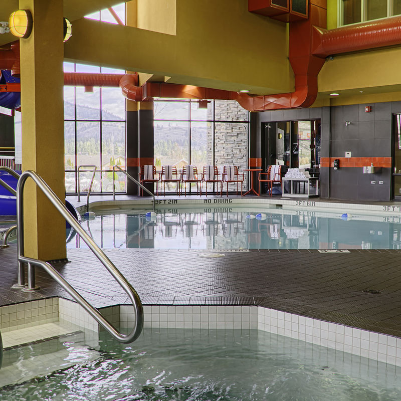 Waterslide, Indoor Pool + Jetted Hot Tub